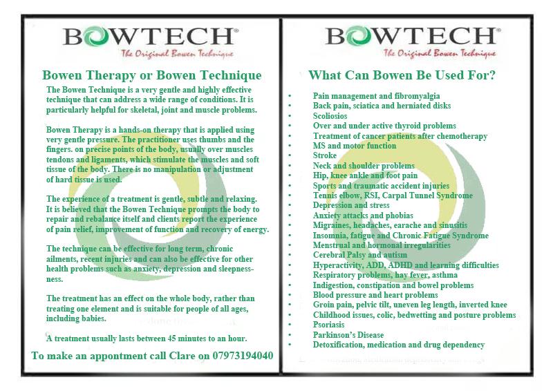 Bowen Therapy Torquay